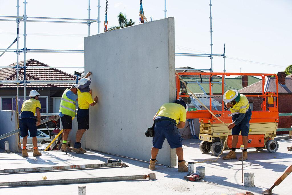 concrete precast panel installation