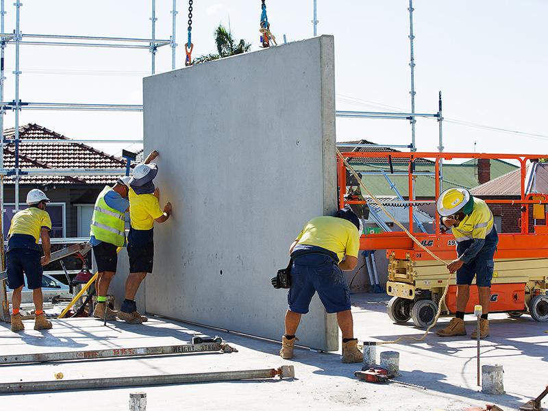 precast concrete panel installation